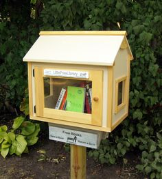 """""""Free Little Library"""". I am totally doing this!!! Free Little Library - Take a book, Return a book! Spreading the love of reading"""