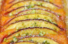 Tarte aux nectarines et sa crème d'abricots - recette facile - la cuisine de Nathalie