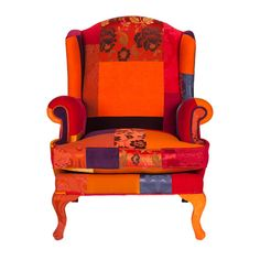'The Rotterdam Armchair' is a hand stitched unique patchwork design with one of a kind fabric combination. Woven silks, velvets and printed satin  textures has been used harmoniously. High quality feather used for filling. For additional sizes or colour  combinations please contact us.  info @ patchwork4home.com