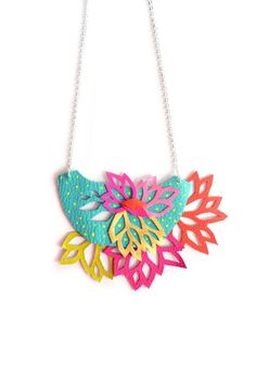 LOVE LOVE LOVE.  Statement Necklace by BooandBooFactory on Etsy.