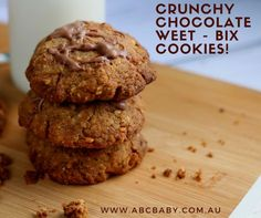This cookie recipe is a favourite in my house the kids love them for a treat. Easy to make and easy to Weet - Cup Self raising Cup of your favourite nuts or seeds, I used grams of Milk chocolat Easy Cookie Recipes, Baking Recipes, Healthy Biscuits, Australian Food, Cheesecake Desserts, Chocolate Muffins, Biscuit Recipe, Melted Butter, 1 Cup