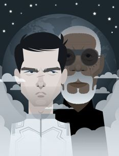 Tom Cruise and Morgan Freeman in a movie directed by Joseph Kosinski. Illustration by Stanley Chow. Stanley Chow, The Kat, Minimalist Poster, Arts And Crafts Movement, Old Art, Chow Chow, Illustrations And Posters, Anime Comics, Music Artists