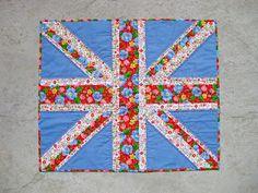pieceful life - a fancy Union Jack mini quilt.