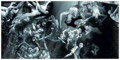 photograph created through human figures