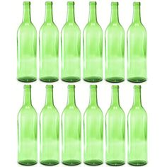 bottiglie vino vuote | Empty Wine Bottles 750 ml Bordeaux Claret Emerald Case of…