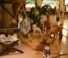 Close-up of part of the live nativity positioned in the middle of the cultural hall, Simi Valley, California creche exhibit, December 2012.  #nativity