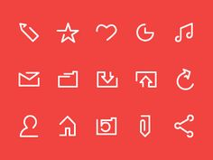 line set Minimal Icon Inspiration from Dribbble