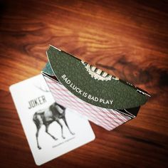 Bad Luck is Bad Play. Vintage Plaid #playingcards by @bucktwins and @artofplay.