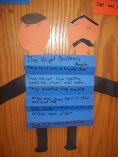 Accordion folded facts about the Wright Brothers...what great learning!