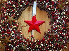 4th of July WreathSummer WreathDoor by DesigningCreations on Etsy, $85.00