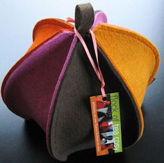 Tea cosy  contemporary styling in wool felt