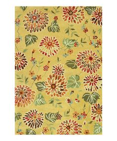 Take a look at this Beige Floral Bloom Rug by Loloi Rugs on #zulily today!Just got it for ower bedroom...love it
