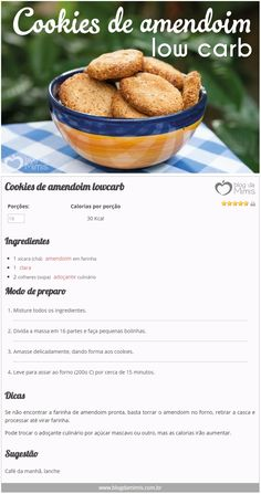 Cookies de amendoim lowcarb