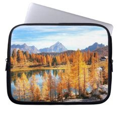 Alps In Early Autumn Laptop Sleeve - photography gifts diy custom unique special