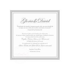 Invitaciones Clásicas Tradicionales - Invitaciones Mi Diseño Costa Rica www.invitacionescr.com  #elegant #clasic #invitations #wedding #costarica