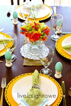 Easter and Spring tablescaping