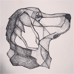 Inspired by a tattoo I saw. I decided to try drawing my golden retriever in a similar style.