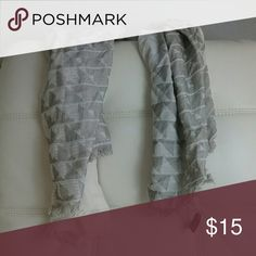 Scarf Solid white &  grey triangle print scarf Worn once, been gently washed GREAT CONDITION  Firm price - $5  FREE Shipping :)  Don't Forget to Bundle & Save!!!! Accessories Scarves & Wraps