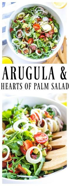 ARUGULA & HEARTS OF PALM SALAD - A Dash of Sanity AD @reesespecialty