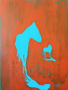 Turquoise Horse. #HorseArt #Horse