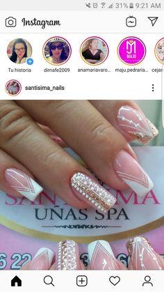 Nail Spa, Manicure And Pedicure, Magic Nails, Chevron Nails, Manicures, Beauty Nails, Cute Nails, Nail Art Designs, Pug Cartoon