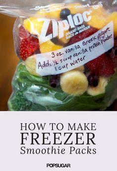 2 Reasons to Make Smoothie Freezer Packs