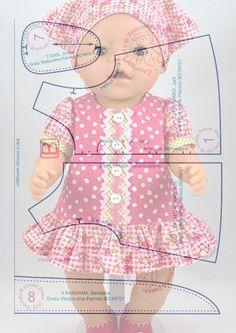 Album No. 6 Patterns for dolls .-Альбом № 6 Выкройки для кукол . Альб… Album No. 6 Patterns for dolls . Album No. 6 Patterns for dolls . Baby Dress Patterns, Baby Clothes Patterns, Doll Sewing Patterns, Sewing Doll Clothes, Sewing Dolls, Barbie Clothes, Baby Born Clothes, Bitty Baby Clothes, Girl Dolls