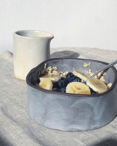 Ceramic pottery bowl in black clay with gentle linen-inspired brushstroke grey/blue glaze. Available in the June shop update. Ceramic pottery bowl in black clay with gentle linen-inspired brushstroke grey/blue glaze. Available in the June shop update. Ceramic Soap Dish, Ceramic Bowls, Ceramic Mugs, Pottery Pots, Ceramic Pottery, Keramik Design, Pottery Videos, Sculptures Céramiques, Black Clay