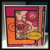 CTMH Flirty Thanks Card using the new Artiste Cartridge, Flirty Paper Pack & Sparkle Black Flourishes. Mojo Monday #255 Card Sketch