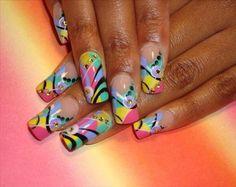 Image detail for -Acrylic Nail Art Acrylic Nail Art Airbrush Nail Art, Airbrush Designs, Acrylic Nail Art, Great Nails, Love Nails, Fun Nails, Beautiful Nail Designs, Beautiful Nail Art, Easy Nail Art