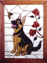 german shepherd stained glass patterns | Limited Edition Stained Glass Design hand crafted using the same ...