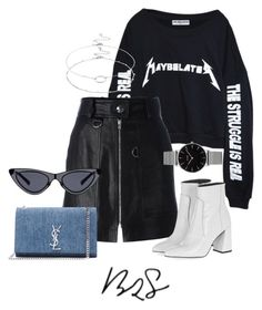 """""""#887"""" by blendingtwostyles ❤ liked on Polyvore featuring High Heels Suicide, Isabel Marant, Accessorize, Yves Saint Laurent and Topshop"""