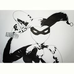 Tinta china #HarleyQuinn #Ink #BlackandWhite #Desing