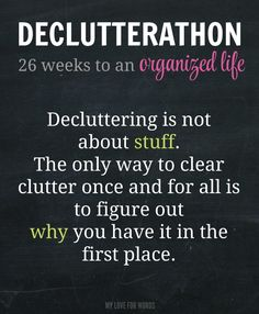 If you're decluttering. focusing on the stuff won't get you far. You need to get to the root of why you have clutter for real, long-lasting change.