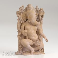 3d model of the bas-relief of the god Ganesh for visualization and production on CNC machines & 3D printing.