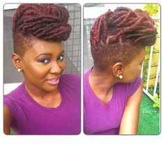 Yes To Locs Shaved Sides Bold N Beauti At Www Kurleebelle Com Pertaining To Appealing Hair Gel Shaved Side Hairstyles, Dreadlock Hairstyles, Cool Hairstyles, Be Natural, Natural Hair Tips, Natural Hair Styles, Natural Beauty, Braids With Shaved Sides, My Hairstyle