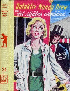 """""""Detektiv Nancy Drew og det stjålne armbånd"""" av Carolyn Keene Joker, Baseball Cards, Reading, Sports, Books, Fictional Characters, Image, Hs Sports, Libros"""