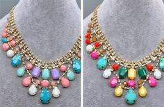 GroopDealz | Rainbow Gems Necklace - 2 Colors!