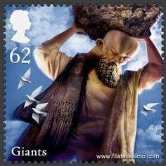 Royal Mail Postage Stamp - Part Of A series on mythical creature's - this one features Giants Royal Mail Stamps, Royal Mail Postage, Mermaid Stories, Passport Stamps, Penny Black, Smosh, Stamp Collecting, Postage Stamps, Uk Stamps