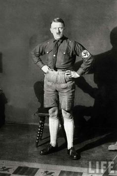 Hitler in his knickers.  Mooseknuckle anyone?