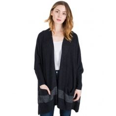 Shop Barefoot Dreams at Bliss - We have the CozyChic Lite Cliffside Wrap in Black! Barefoot Dreams, Graphite, Bliss, Sweaters, Jackets, Play, Clothes, Shopping, Collection