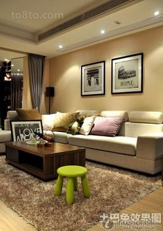Encyclopedia of American minimalist living room decorating pictures