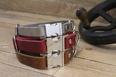 FREE ID TAG Dog collar Clip collar Handmade leather collar Pet gift Metal side release buckle XLarge collar XSmall collar. Boxer Dog Tattoo, Small Sized Dogs, Dog Collar Tags, Hiking Dogs, Handmade Dog Collars, Leather Dog Collars, Dog Accessories, Tube, Funny Puppies