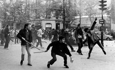 Students protests, Paris, May 1968.