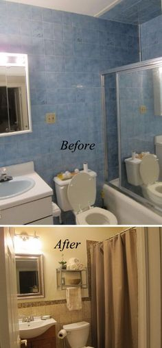 Bathroom Makeover Kit before and after: 20+ awesome bathroom makeovers | hall bathroom