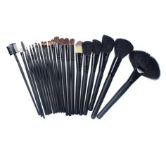 So Beauty 24pcs Professional Cosmetic Black Bar Make up Brush Set with Bag Case >>> You can find out more details at the link of the image.