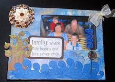 """Masculine Inspirations in Paper & Crafts: Altered """"Family"""" Frame - Reunion Blog Hop project by Debby Henderson"""
