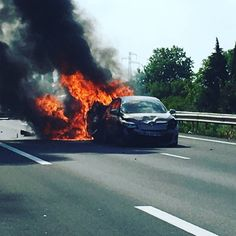 #fire #car #Dude #life #autoroute #France #crashcar #car #Grandpa #crazy #86years