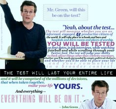 John Green, literature nerd extraordinaire. Impart on me your wisdom (and your affection for argyle socks). Now excuse me while I re-pin all the words that come out of his mouth.