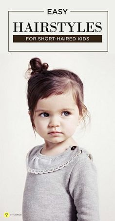 tyling the hair of a little girl is way more fun – it's like playing hairstyle with a live doll! Here are 4 simple Hairstyles for kids with short hair for ...